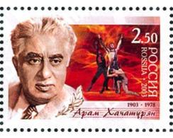 Ref. 127745 * MNH * - RUSSIA. 2003. CENTENARY OF THE BIRTH OF ARAM KHATCHATURIAN . CENTENARIO DEL NACIMIENTO DE ARAM KHA - 1992-.... Föderation