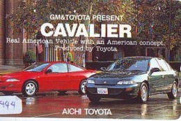 Télécarte JAPON * TOYOTA (1444) Phonecard JAPAN * VOITURE * Auto CAR * TELEFONKARTE * - Cars