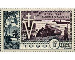 Ref. 42318 * MNH * - TOGO. 1954. 10th ANNIVERSARY OF LIBERATION . 10 ANIVERSARIO DE LA LIBERACION - Togo (1914-1960)