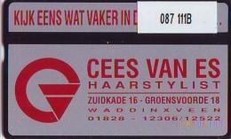 Telefoonkaart  LANDIS&GYR  NEDERLAND * RCZ.087  111B * Cees Van Es, Haarstylist (rood) * TK * ONGEBRUIKT * MINT - Nederland