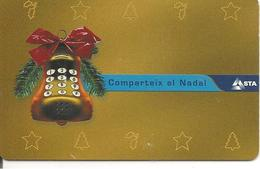 CARTE-µ-PUCE-ANDORRE-50U-AND126-PUCE G &D--12/2001-NOEL 2001-NEUVE-TBE - Andorre