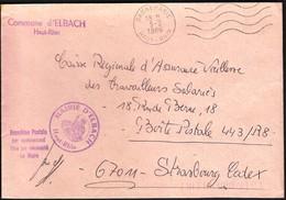 France Dannemarie 1986 / Commune D' Elbach - Marcofilia (sobres)