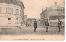 78  BONNIERES Sur SEINE  Rue De La Poste Et La Gare - Bonnieres Sur Seine