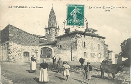 43 - SAINT EBLE - LA PLACE ANIMEE - BEAU CACHET PERLE SAINT EBLE - Frankrijk