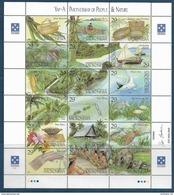 1993 MICRONESIE 258-75** Folklore, Artisanat, Poissons, Bateau, Bas De Feuille Légèrement Froissé - Micronésie