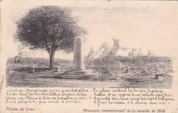 CPA Plaine De Lens, Monument Commémoratif De La Bataille De 1648 (pk47108) - Lens