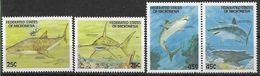 1989 MICRONESIE 87-90** Mammifères Marins, Requins - Micronésie