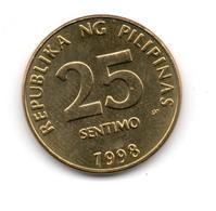 FILIPINAS - PHILIPPINES - 25 Centimes 1998  KM271 - Filipinas