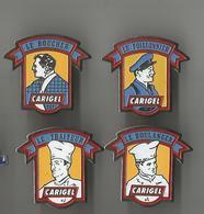 Lot De 4 Pin's Carigel (métiers) - Food