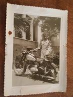 Grande Photo D'une Superbe Moto Jawa Immatriculé Au Maroc MA 12 Casablanca - Militaire - Format 23.5 Cm X 17 Cm - Other