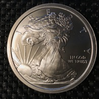 USA - Medallion - 5 Oz Silver - (Walking Liberty) - Elongated Coins