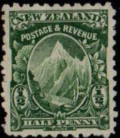 New Zealand 19 D WM Perf 11 WM Double Star 1 Value Unused (no Gum) Mount Cook Or Aorangi - Neufs