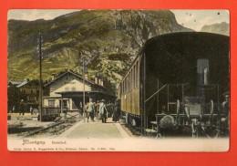DA08-13 RARE  La Gare De Martigny  Bahnhof,gros Plan.Plan-Cerisier à L'arrière Plan. Guggenheim 11398.Précurs., Non Circ - VS Valais