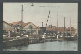 Oude Pk. Chauny.- Déchargement Des Bateaux - Chauny