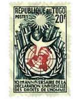Ref. 33081 * MNH * - TOGO. 1958. 10th ANNIVERSARY OF THE UNIVERSAL DECLARATION OF HUMAN RIGHTS . 10 ANIVERSARIO DE LA DE - Togo (1914-1960)
