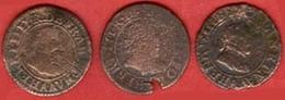 ** LOT  DOUBLE  TOURNOIS ** - 987-1789 Monnaies Royales