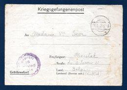 Kriegsgefangenenpost.  Stalag IX A  Ziegenhain. Censure 15. Juillet 1940 - 1939-45