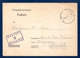 Kriegsgefangenenpost.  Oflag IX A Château De Spangenberg. Censure 9. Juin 1940 - Guerre 1939-45
