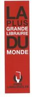 Marque Page Publicitaire : La Plus Grande Librairie Du Monde Paris Librairie. Fr - Lesezeichen