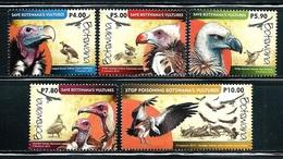 "Botswana     ""Vultures""      Set    SC# 983-87    MNH - Botswana (1966-...)"