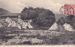 38. GRENOBLE. CPA. POISAT. LE CAMP DU GÉNIE. ANNEE 1906 + TEXTE - Grenoble