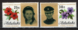 AITUTAKI - 1973 - Wedding Of Princess Anne And Capt. Mark Phillips - NUOVI MNH - Aitutaki