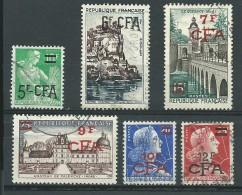 REUNION CFA: Obl., N° 333 A à 337 A, 6 Tp, TB - Reunion Island (1852-1975)