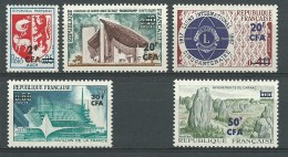 REUNION CFA: **, N° YT 373 à 377, Série, TB - Reunion Island (1852-1975)