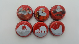 MEXICO - 6 BOTTLE CAPS - COCA COLA - CHRISTMAS 2011  - FULL SET - Soda