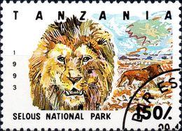 TANZANIA 1993 - FAUNA, ANIMALI, LEONE - 1 VALORE NUOVO MNH** CTO - Tanzania (1964-...)