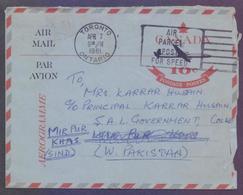 CANADA Postal History, 10c Stationery Aerogramme, Used 7.4.1961 With Slogan Postmark - 1953-.... Regering Van Elizabeth II