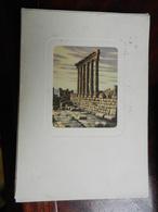 17419) LIBANO BALBEK TEMPIO DI GIOVE ILLUSTRATORE DANDOLO BELLINI VIAGGIATA 1957 - Liban