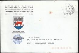 France Hirtzbach 1985 / Commune De Hirtzbach / Coat Of  Arms / Deer - Marcophilie (Lettres)