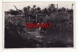 Carte Postale Photo ASIE-ASIA-ASIEN Cours D'eau En Plein Travail A SITUER A LOCALISER ?? - Cartes Postales