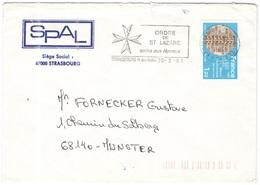 FRANCIA - France - 1981 - 1,20 Micro-électronique CNET Grenoble + Flamme Ordre De St. Lazare, Soins Aux Lépreux - Seul - - Storia Postale
