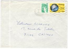 FRANCIA - France - 1982 - 1,40 Énergies Nouvelles + 0,20 Sabine De Gandon - Viaggiata Da Paris Per Castres - Storia Postale