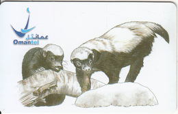 OMAN(chip) - Animals/Ratel, Chip CHT08, Used - Oman