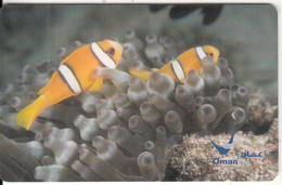 OMAN(chip) - Fish, Yellowtailed Anemonfish, Chip GEM3.3, 11/03, Used - Oman