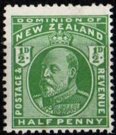 New Zealand 1909 ½ King Edward MNH 1 Value - Nuovi