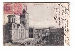 Colombie Oblitération Cachet Timbre Timbres Barranquilla Iglésia San Nicolas 1904 à Destination Verrey Sous Salmaise - Colombie