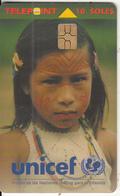 PERU - Unicef/Girl, Chip GEM3.3, Tirage %50000, 09/98, Used - Peru