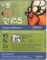 PERU - Zodiac/Aries, Telefonica Telecard, Chip GEM1a, Tirage %18500, 11/99, Used - Peru