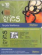 PERU - Zodiac/Aries, Telefonica Telecard, Chip GEM1b, Tirage %18500, 11/99, Used - Peru