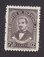 Guatemala, Scott #C134, Mint Hinged, Jose Milla Y Vidaurre, Issued 1945 - Guatemala