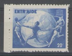 """Vignette ** BdF """"ENTR'AIDE-UNESCO"""" - Commemorative Labels"""