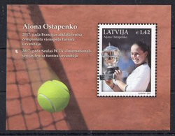 Latvia 2017 - A.Ostapenko.Tennis.Cup In France - MNH** - Del.1 - Tennis