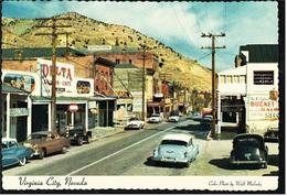 Virginia City / Nevada  -  Street : The Delta Saloon And Bucket Of Blood -  Ansichtskarte Ca.1960    (8713) - Etats-Unis