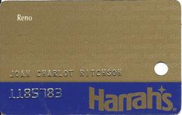 Harrah's Casino Reno - 9th Issue Slot Card - Casino Cards