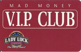 Lady Luck Casino - Bettendorf IA - BLANK 2nd Issue Slot Card - Casino Cards