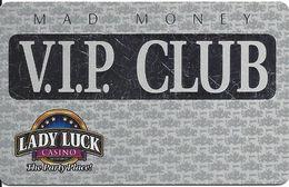 Lady Luck Casino - Bettendorf IA - BLANK 2nd Issue Platinum Slot Card - Casino Cards